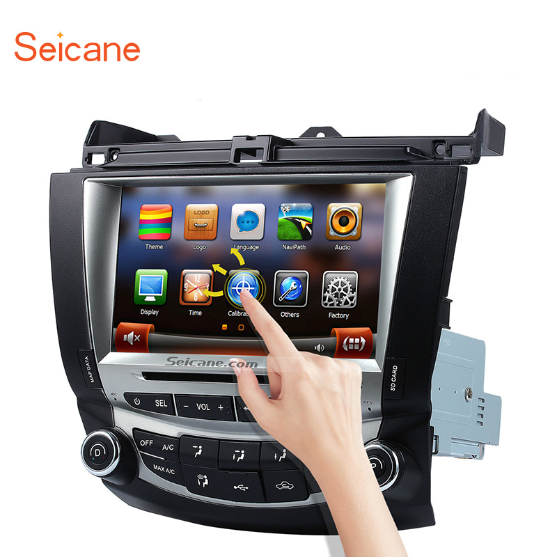 Seicane WinCE 8 inch 2Din Car Stereo Audio Radio GPS DVD Multimedia Player For 2003 2004 2005 2006 2007 Honda Accord 7