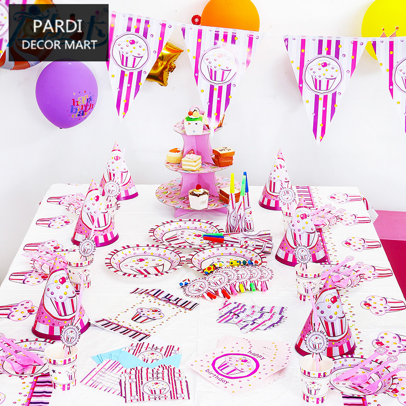 Princess Icecream Theme Girl Party Pack supplies birthday party decoration kids party supplies 1set/lot