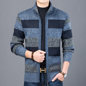 Image 3 - 2020 Thick New Fashion Brand Sweater For Mens Cardigan Slim Fit Jumpers Knitwear Warm Autumn Korean Style Casual Clothing Male