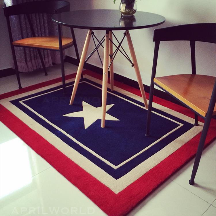 The new and vintage Mediterranean style carpet Captain America simple modern bedroom bed blanket children hallwaymat pad rug