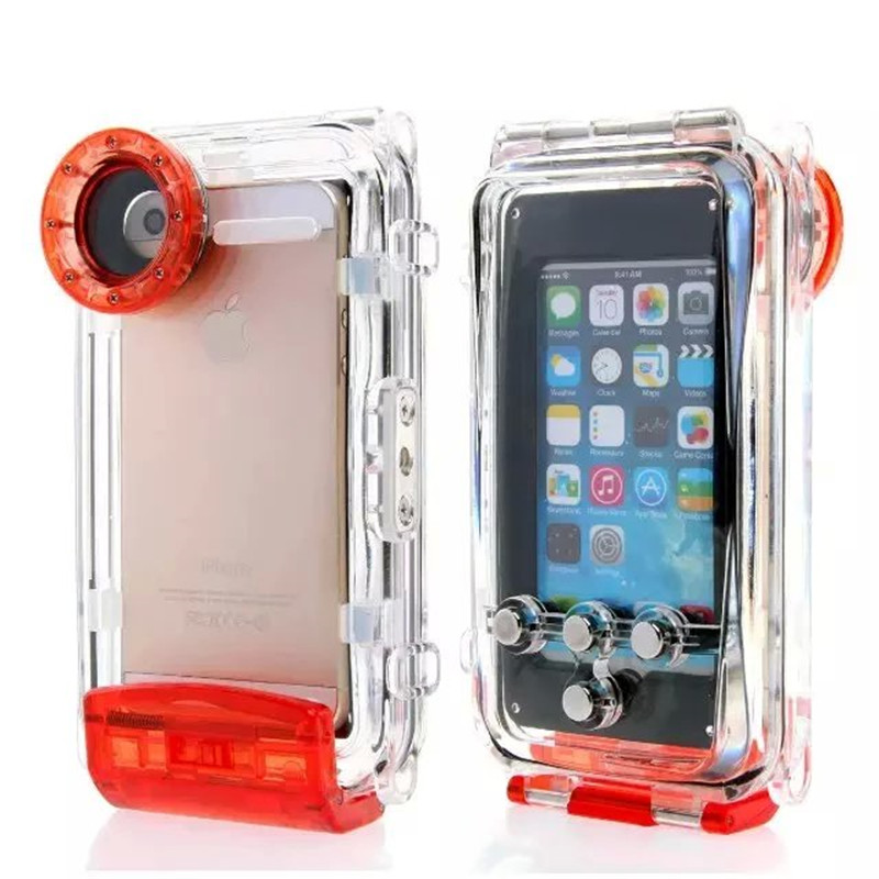 40M IPX8 Diving Waterproof Case Swimming Drifting Floating Rafting Surfing Case for iPhone SE 5 5S Underwater Cover for Camera