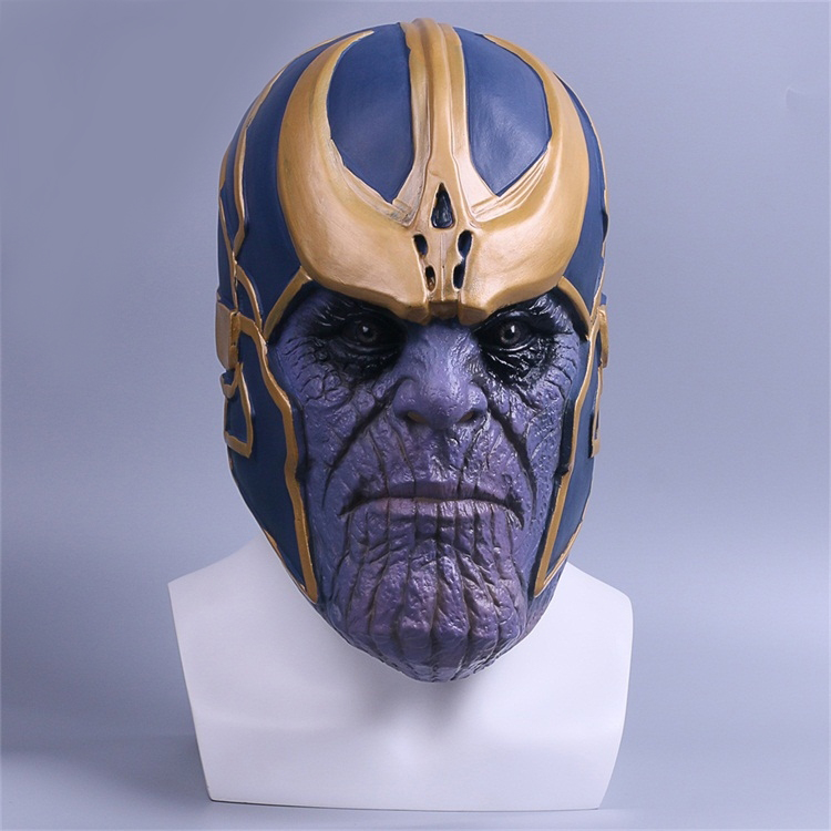 New Marvel Avengers Infinity War Thanos Cosplay Costume Accessory Mask Helmet Cool Emulsion/Latex Mask Comicon Halloween Gift
