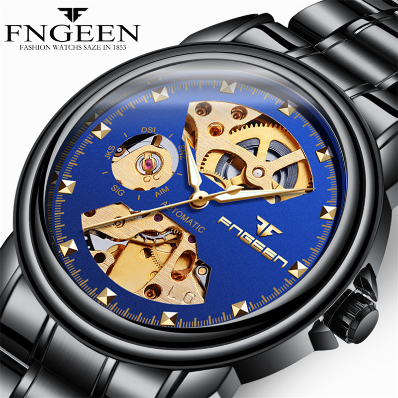 Men Wristwatch 2019 Mens Famous Brand Luxury Automatic Mechanical Watches 3D Design Skeleton Watch For Male Clock Reloj HombreMen Wristwatch 2019 Mens Famous Brand Luxury Automatic Mechanical Watches 3D Design Skeleton Watch For Male Clock Reloj Hombre
