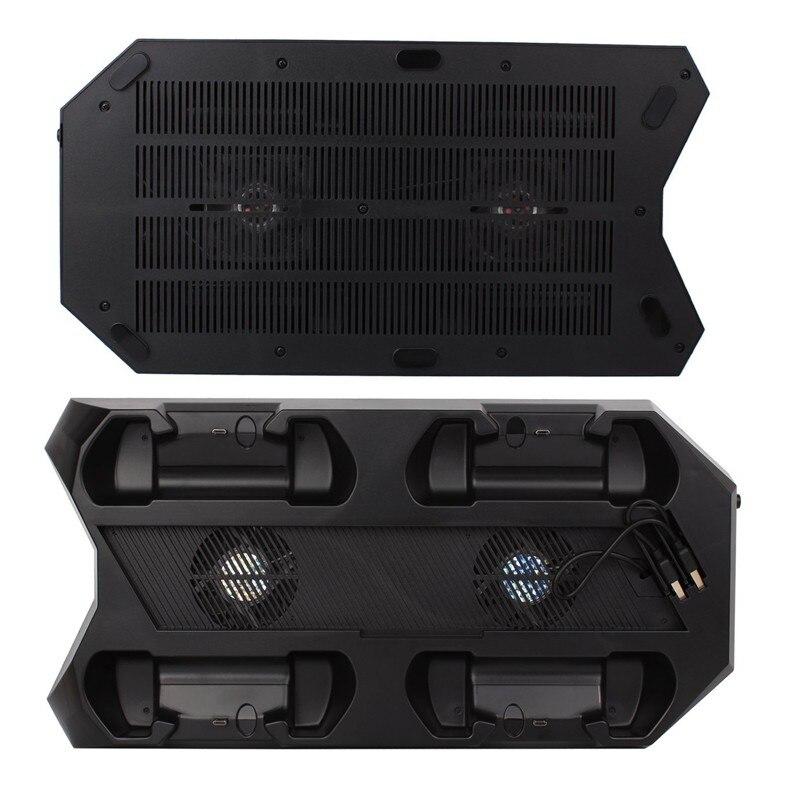 Многофункциональный 10 в 1 Зарядка через usb док-станция с охлаждающим вентилятором для sony Игровые приставки 4 PS4 Беспроводной консоли контрол...