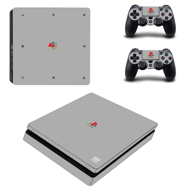 Pure Color White Black Removable PS4 Slim Skin Sticker For Sony PlayStation 4 Console and Controller PS4 Slim Sticker Decal