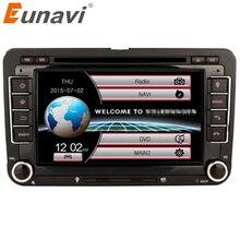 Eunavi 2 Din Car DVD Player For VW GOLF POLO JETTA MK5 MK6 PASSAT B6 SKODA TOURAN With 3G USB GPS BT IPOD FM RDS mirror link swc
