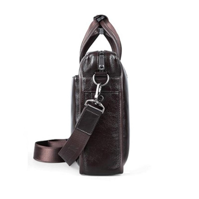 homens/casual natural cowskin negócios bolsa Handle/strap Tipo : Soft Handle