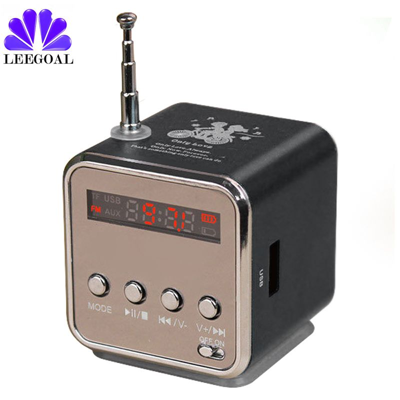 Portable Micro TD-V26 Mini Speaker FM Radio LCD Digital Sound SD/TF Speaker Music Stereo Loudspeaker for Laptop Phone