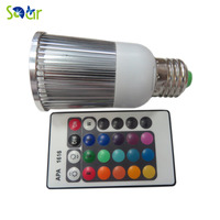 16 Kleuren 5 W RGB LED lamp AC85-265V E27 LED Spotlight Lamp Met IR Afstandsbediening Vakantie Decor Sfeer Night licht