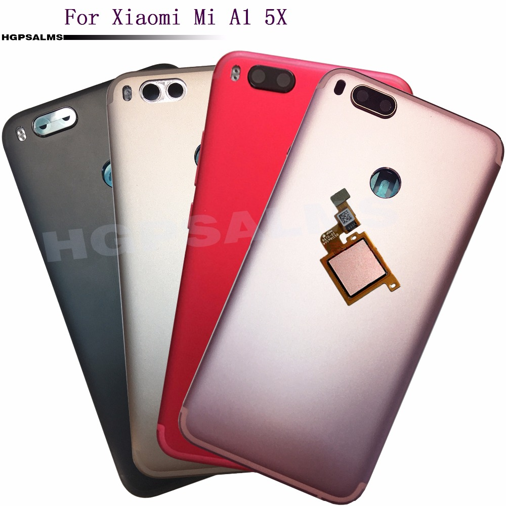 brand new 717ec cbc26 For Xiaomi Mi A1 5X Back Battery Cover Back Housing Rear Cover with Power  Volume key Camera button + fingerprint Sensor-in Mobile Phone Housings from  ...