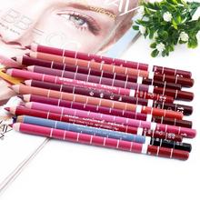 12 PCs/Set Fashion  Women's Professional Waterproof  Lip Liner Pencil Long Lasting 15CM Lip liner pen makeup New