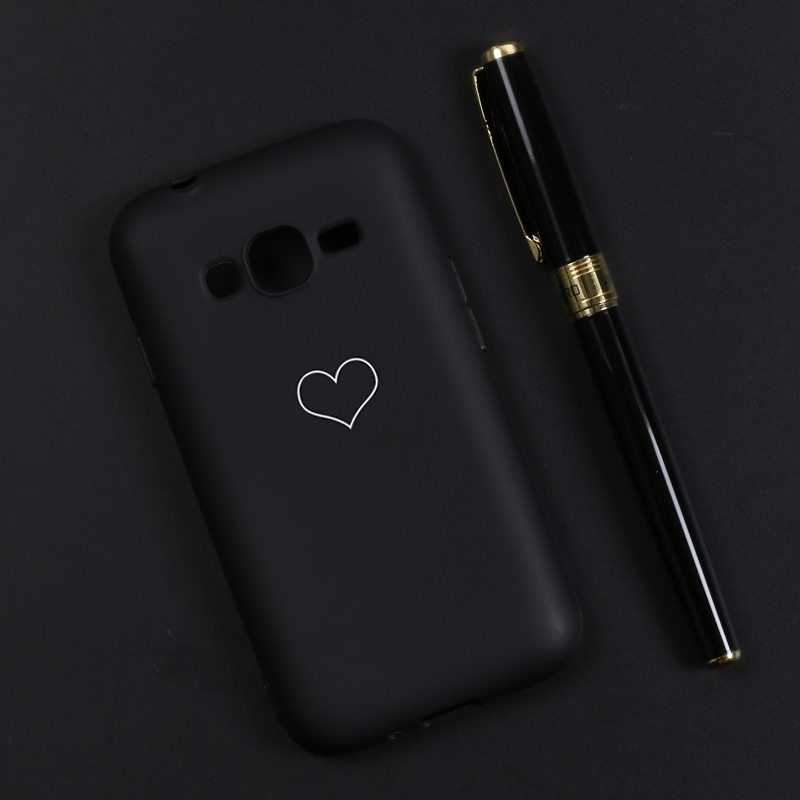 AXD For Samsung Galaxy J1 Mini Prime J106 J106F Love Heart Painted Phone Case Back Cover Silicon Cases For J 106 & DIY Custom