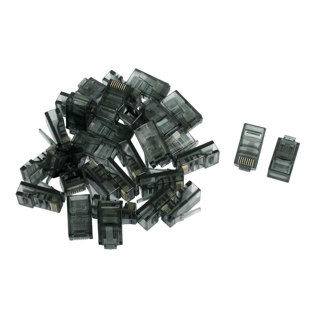ВГА Лидер продаж 30 шт. 8P8C Cat5 Кейт Модульный сетевой кабель штекер RJ45 разъем