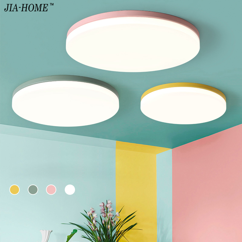 Modern Ceiling Lights For Living Room Bedroom lighting fixture round surface mounted Ceiling Lamp home Decorative Lampshade deco round thin iron acrylic geometry ceiling light fixture surface mounted modern simple plafon lamp for hallway bedroom living room