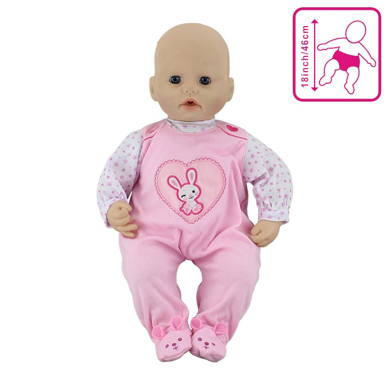 Jumpsuit Wear For 46cm Baby Annabell Doll 18 Inch Dolls Accessories
