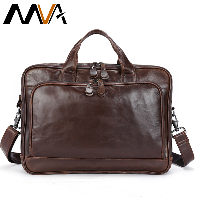 2019 Genuine Leather Briefcase Laptop Men's Bags Messenger Shoulder Bags Men's Leather Bag Briefcases Laptop Crossbody Bags 8979