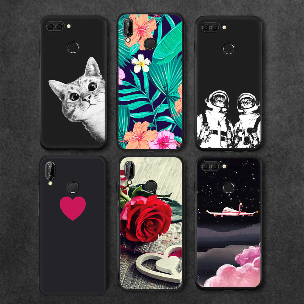Phone Case For Huawei P20 Lite Pro Mate 10 Pro P10 P8 P9 Lite 2017 Y9 2018 Cover For Honor 8 9 Lite 9i Black TPU Matte Cases