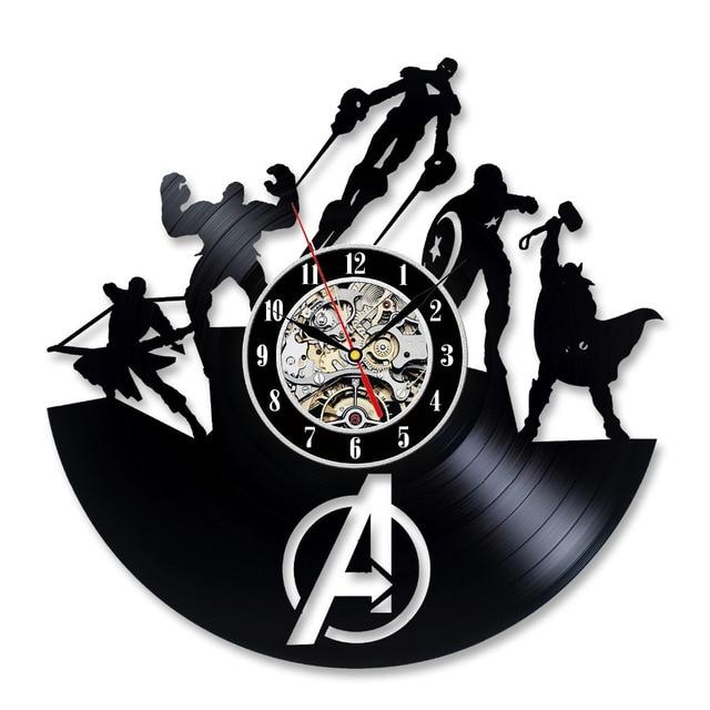 Gratis Pengiriman 1 Piece Marvel Superhero The Avenger Captain America  Vinyl Jam Dinding Perang Saudara Handmade f29d2be44f