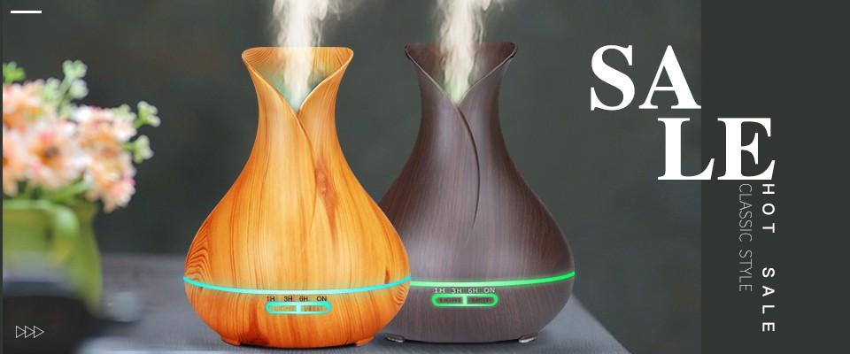 Verre de lhumidificateur de m/énage Mini humidificateur /électrique dAromatherapy du m/énage 3D avec la veilleuse humidificateur color/é de Forme de Vase