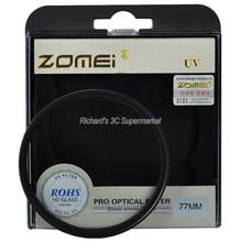 Zomei 49ミリメートル52ミリメートル55ミリメートル58ミリメートル62ミリメートル67ミリメートル72ミリメートル77ミリメートル82ミリメートルuvフィルター超バイオレットレンズフィルタープロテクターキヤノンニコンソニーデジタル一眼レフカメラ