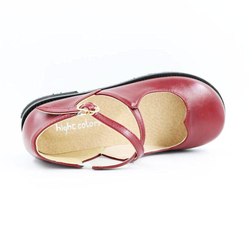 Girls Cruzada ~ Nuevas Tamaño Correa Redonda black Dulces yellow Cm Jane 31 Mujeres Beige Mary 5 Zapatos 20 43 red Punta 26 Moda Casual Hebilla 5 Ballet ETwwqR