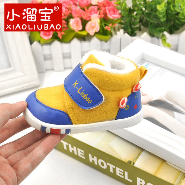 Baby Shoes Winter Boots Infant Soft Hairy Warm Cotton Shoes Toddler Girls Boys Soft Bottom Style Soled Newborn First Walkers0-2y