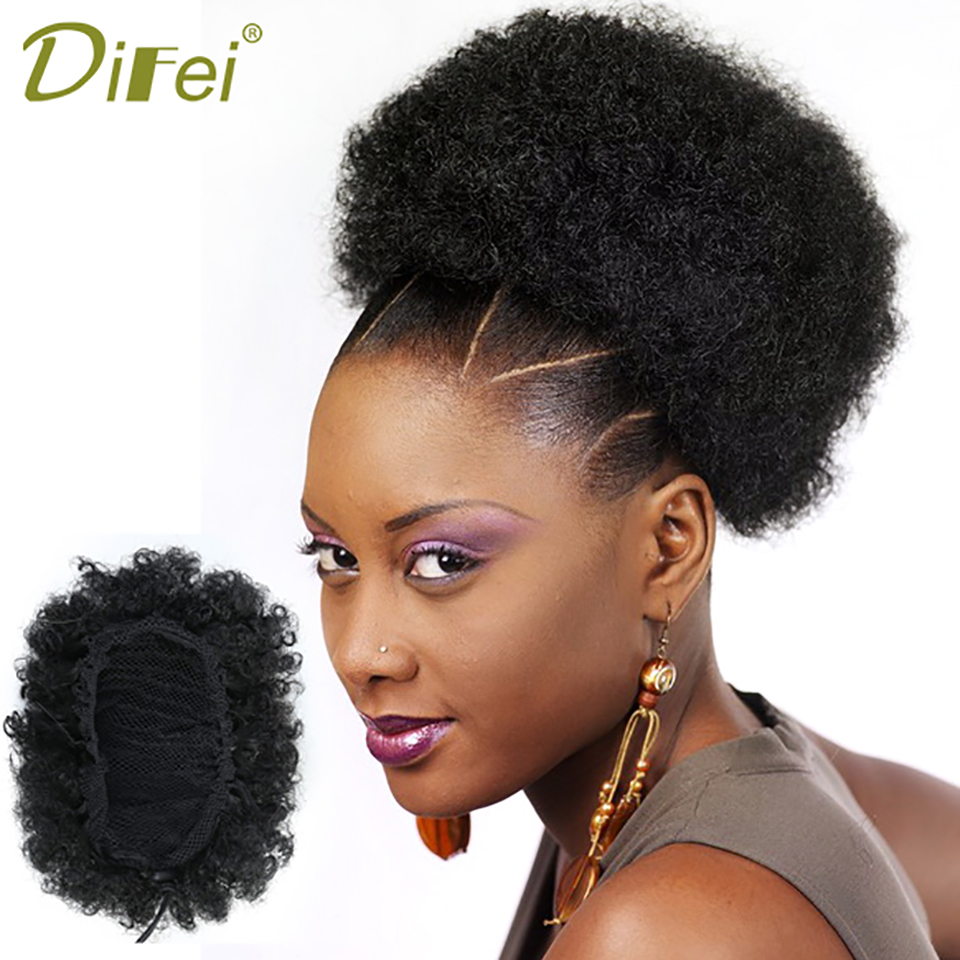 DIFEI 3 Colors Curly Chignon Hairpiece Clip-In High Temperature Fiber Synthetic Hair Chi ...