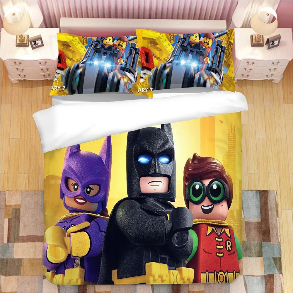Legoings Marvel The Avengers Bedding Set Duvet Covers Pillowcases Twin Full Queen King Batman Comforter Bedding Sets Bed Linen