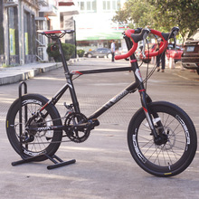 JAVA CL Bike 20″ Minivelo 18 Speed Disc Brake Drop Bar 4600 Uniex High Quality Urban 406 Mini velo Bicycle Mechanical Brakes