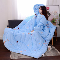 New Winter Lazy Warm Blankets With Sleeves 120X160CM 1PC Quilt Winter Warm Thickened Washed Quilt Blankets 30