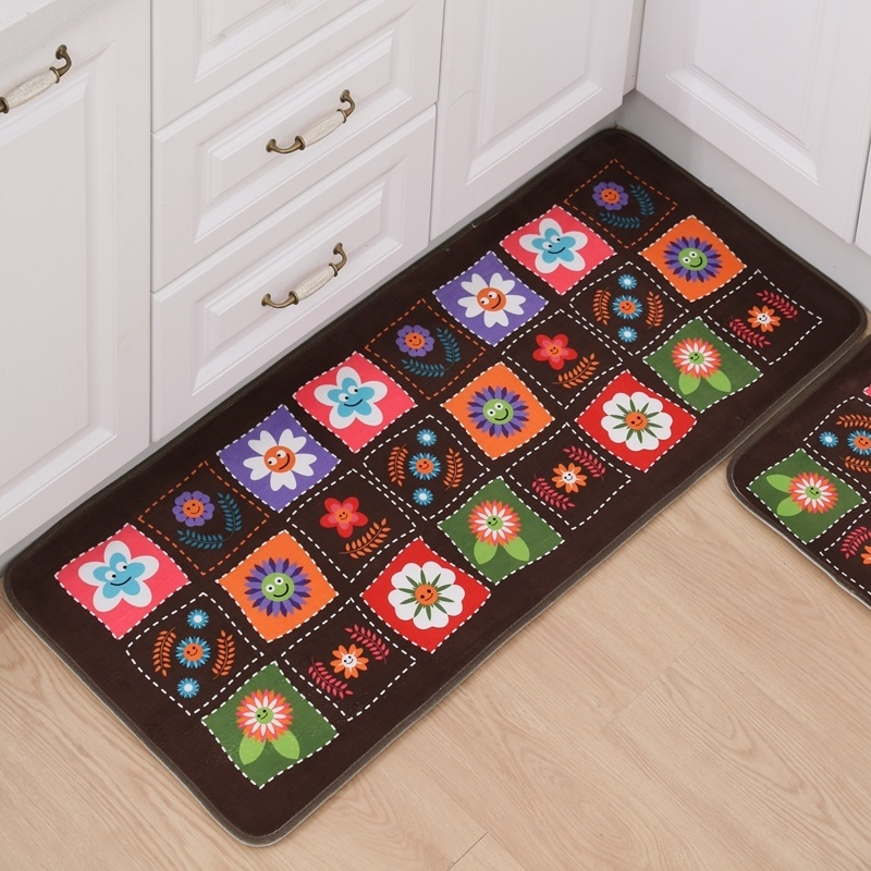 Door Mats Floor Mat Washable Anti Slip Mat For Bathroom Long Kitchen Rug