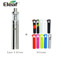 100% Original Eleaf iJust S Starter Kit 3000mAh Built in Battery with 4ml Capacity & 1 pc Silicone Case Cover Rubber Skin Vape