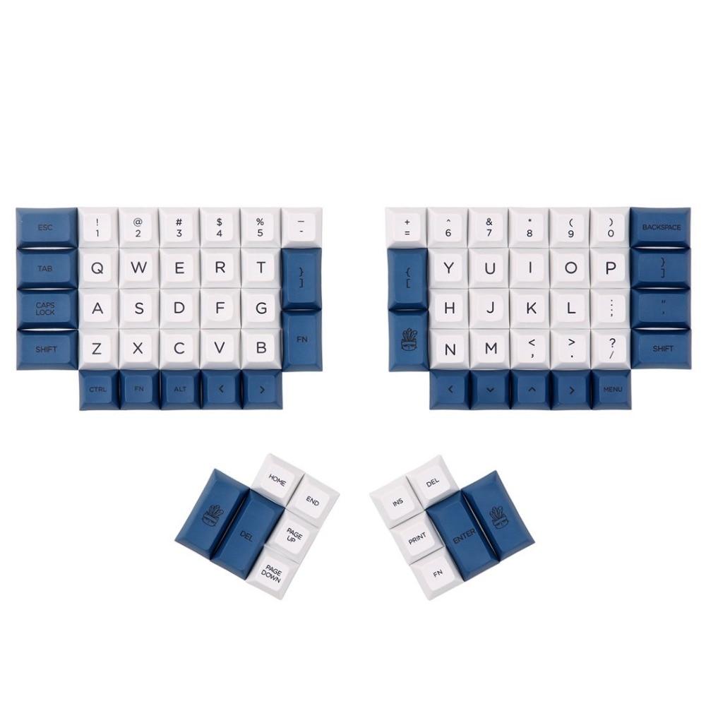 DSA ERGO Dye Sub keycap White and NAVY color 95 keys within personality additional for Ergodox
