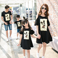 2017 summer mother daughter dresses mom and daughter dress mickey father and son t-shirts family look mommy and me clothes