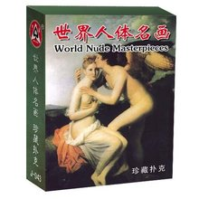 Free shipping 54pcs/set paper collection world nude masterpiece art poker cards set naked painting playing