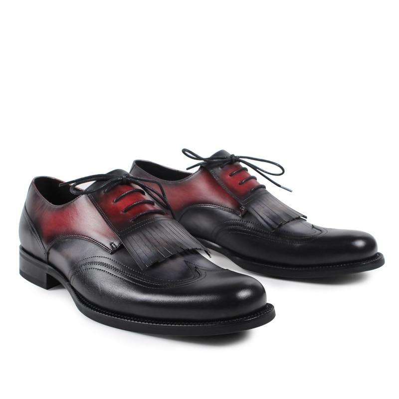 Superstar Men Flat Vintage Retro Custom Mens Derby Shoes Fashion Luxury Formal Dress Lace Up Genuine Leather  original design water pump for l2e l3e l3a l2a l3c l2c l3e2 engine in zeppelin mm43317001