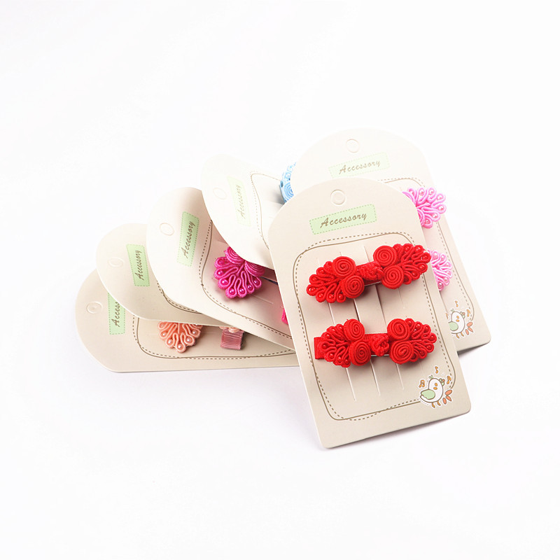 2pcs/lot Chinese Knot Hair Clips Red Hairband Head Band Happy New Year Hairpin Hand Made Rim Hair Accessories Hair Bows halloween party zombie skull skeleton hand bone claw hairpin punk hair clip for women girl hair accessories headwear 1 pcs