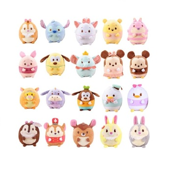 Skyleshine 20Pcs/Lot Ufufy Clouds Series Plush Toys Stitch Dumbo Mickey TSUM Peluche Stuffed Plush Dolls Christmas Gift S6301