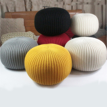 50cm Large Round POUF Home Sofa Decor Cushion Handmade Knitted Woolen Knotted Knot Pillow INS HOT best-selling Floor Ottoma