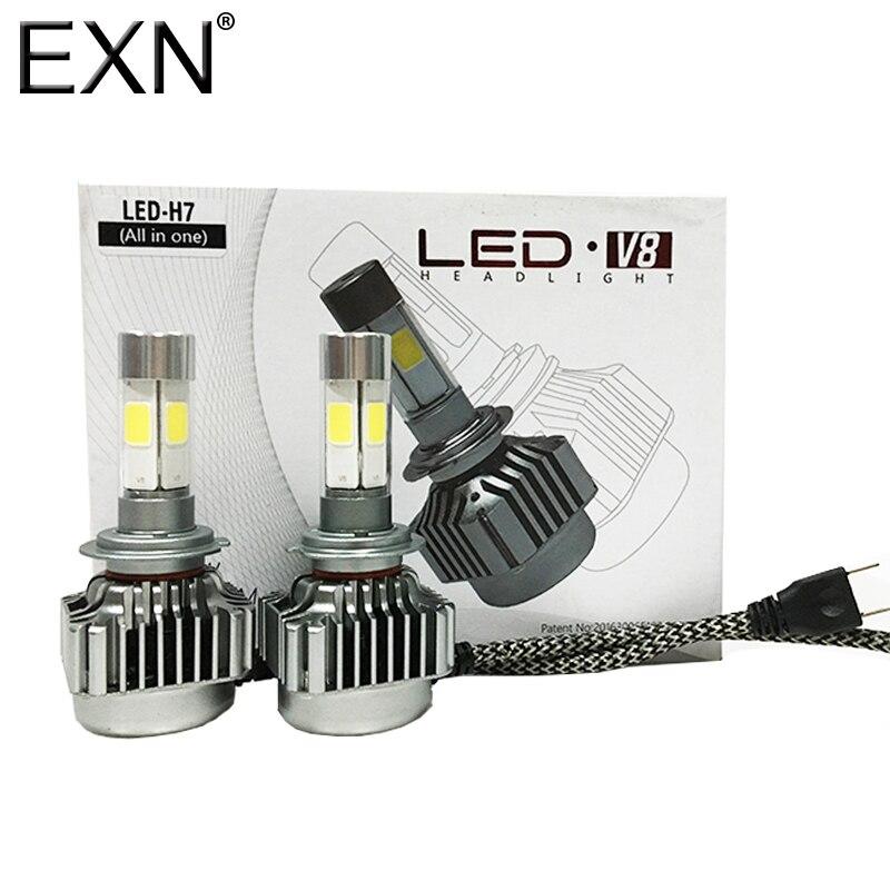 All-in-One V8 LED Headlight H7 Car Headlight H7 Bulb Auto Front Bulb 80W 8000lumen Automobiles Headlamp 6000K LED Headlight Bulb