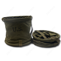 Portable Carriable Army Green Canvas Outdoor Water Bucket CN/109202