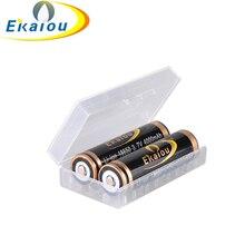 Бесплатная доставка 2×18650 4000 мАч 3.7 В ekaiou высокое качество lrechargeable литий-ионная & Батарея защитный Чехол хранения Коробки
