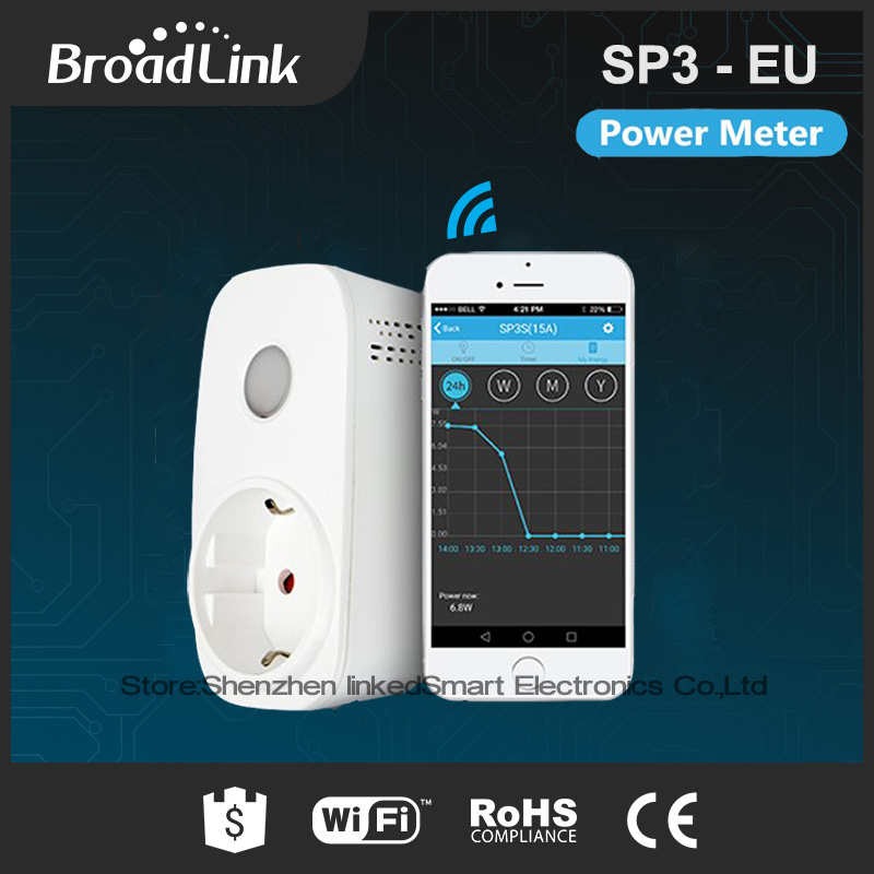 2017 New Broadlink SP3S EU/Contros Smart Wireless WiFi Socket Power Plug 16A 3500w with Energy Meter IOS Android Remote Control детская игрушка new wifi ios