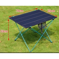 Portable Foldable Table Desk Folding Camping Outdoor Picnic Aluminium Alloy Ultra light Outdoor Dining Table