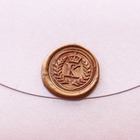 Personalized Crown And Initial Wax Seal Stamp Wedding Invitation Seals Birthday Gift Initial Stamp Customized Stamp