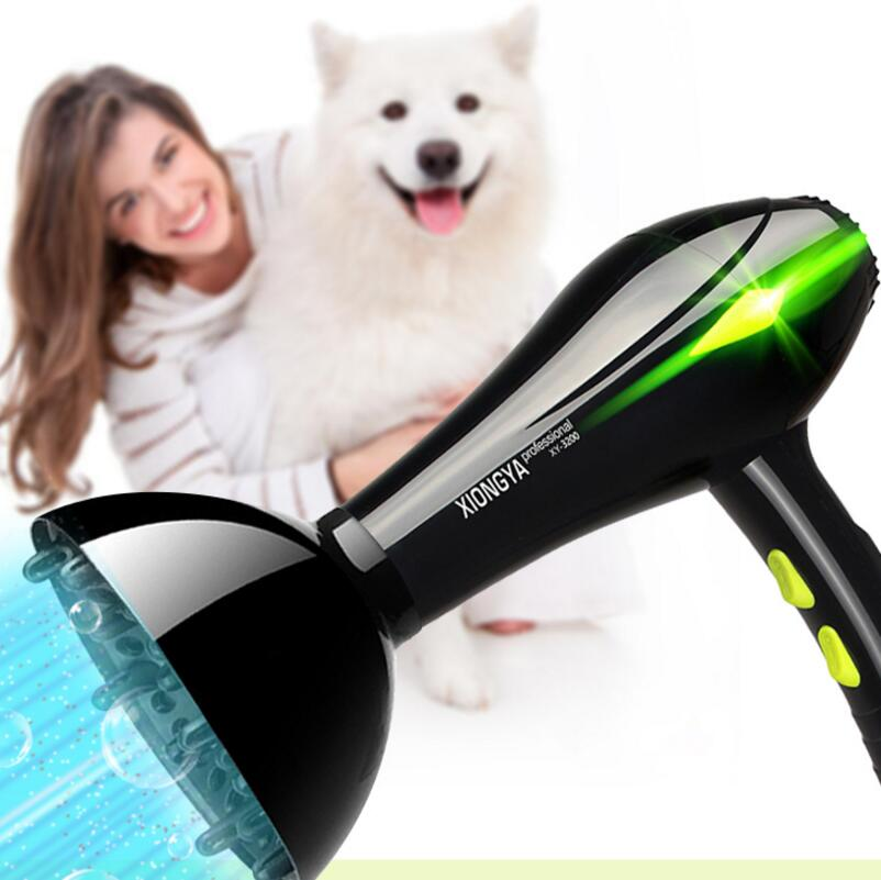 Professional Electric Pet Hair Dryer High Power Dog Blower Golden Hair Teddy Cat Small Large Dog Blowing Machine Heater 2017 new 5 in 1 sets brand cheap dog grooming dryer cheap pet hair dryer blower 220v 110v 2400w eu plug pink blue color