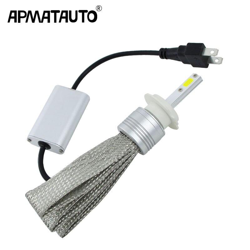 2x Plug & Play H1 H3 H4 H7 H8 H11 H9 9004 9005 HB3 H10 9006 HB4 9007 9008 LED faro 48 w HA CONDOTTO LA Lampadina Dei Fari Faro Della Luce di Nebbia