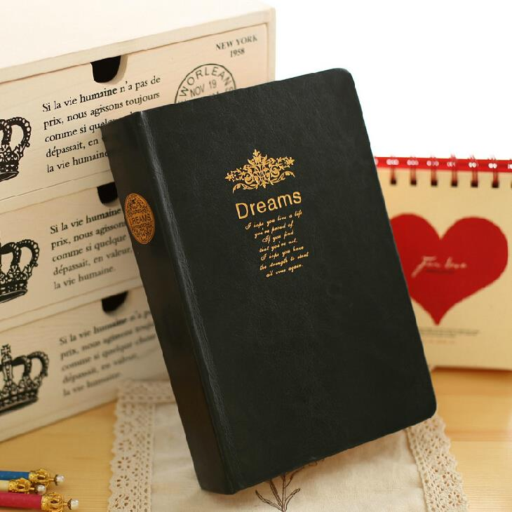 купить Big Dreams Luxury Diary Vintage Classic Notebook Faux Leather Blank Papers Business Journal недорого