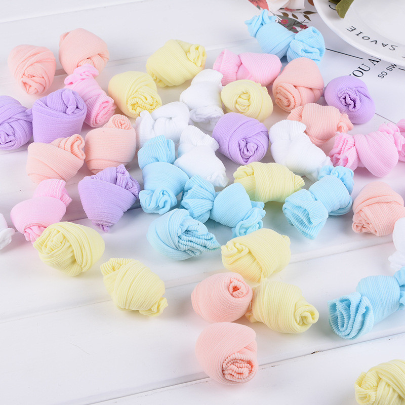 20 Pairs/Lot Girls Socks for Children Kids Mesh Style Baby Girl Socks with Elastic Candy Colors Summer Wholesale 1