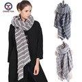 2016 European big Cross striped women imitate cashmere Winter hot sale big shawls Scarf lady scarves women's big wraps Z1666